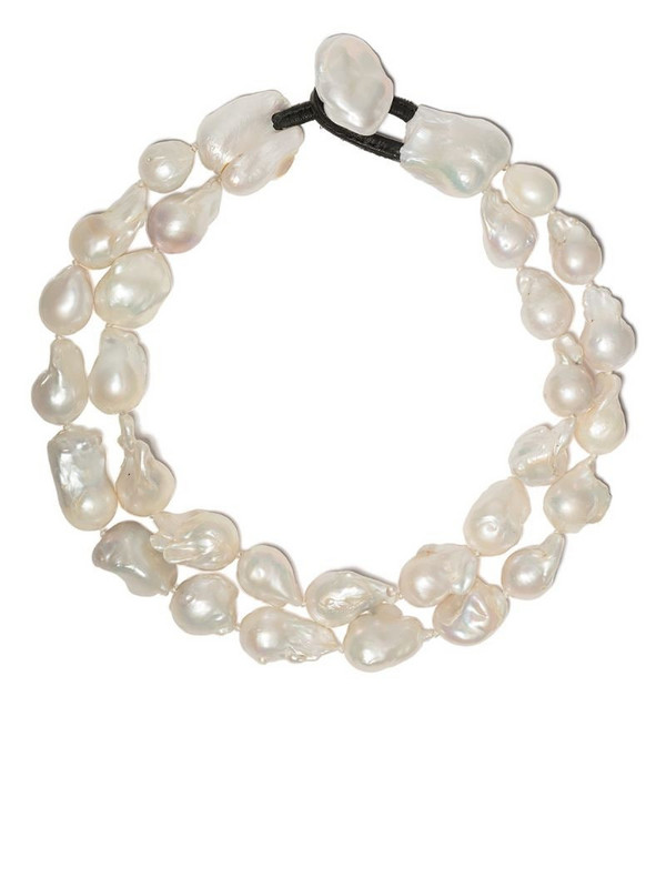 Monies double pearl necklace