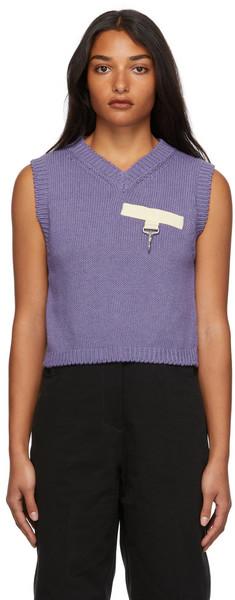 Reese Cooper SSENSE Exclusive Purple Knit Vest in lavender