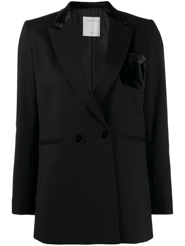 Sandro Paris Nicky blazer in black