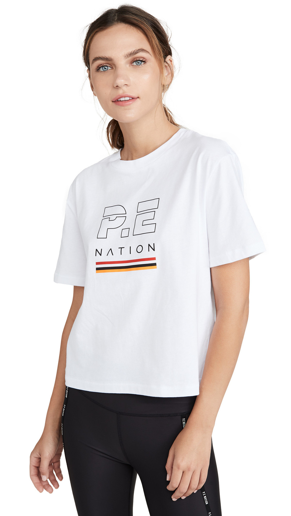 P.E NATION Ignition Cropped Tee in white