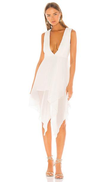 NBD Lexi Midi Dress in Ivory