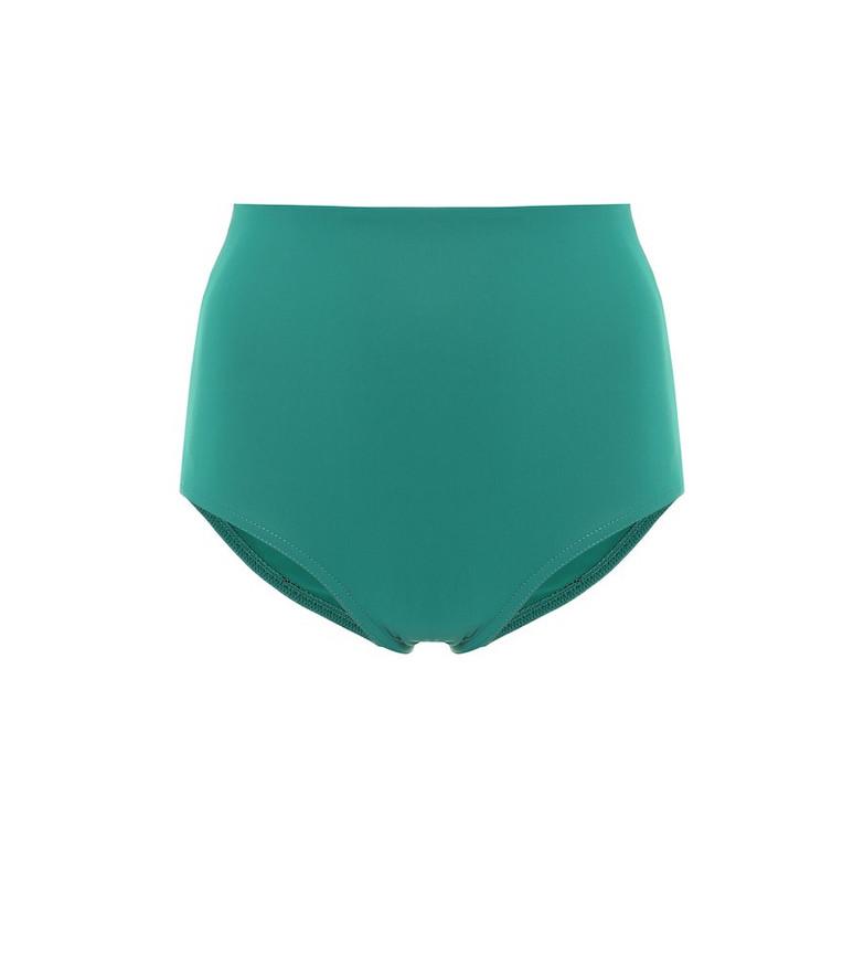 Karla Colletto Basics high-rise bikini bottoms in green