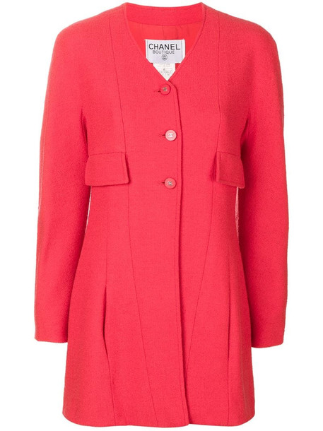 Chanel Pre-Owned 1996 V-neck jacket in red