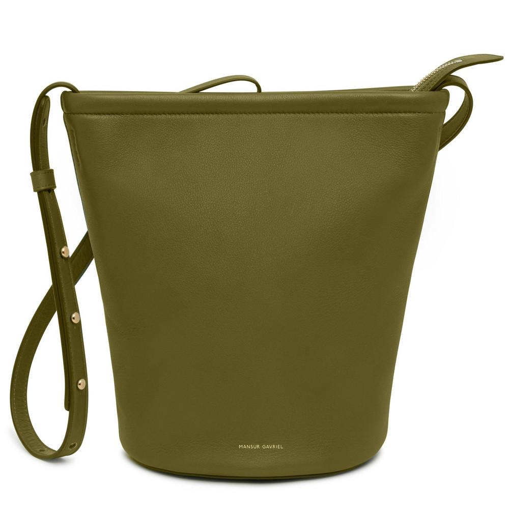 Mansur Gavriel Zip Bucket Bag - Nocciola