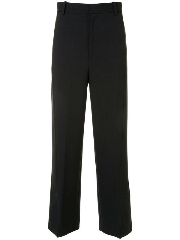 PortsPURE high-waist straight-leg trousers in black