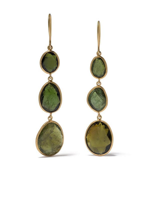 PIPPA SMALL 18kt yellow gold tourmaline drop earrings