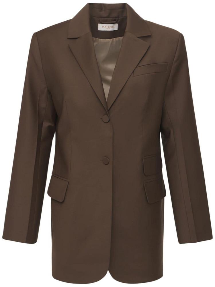 MATÉRIEL Tropical Wool Blend Blazer in brown