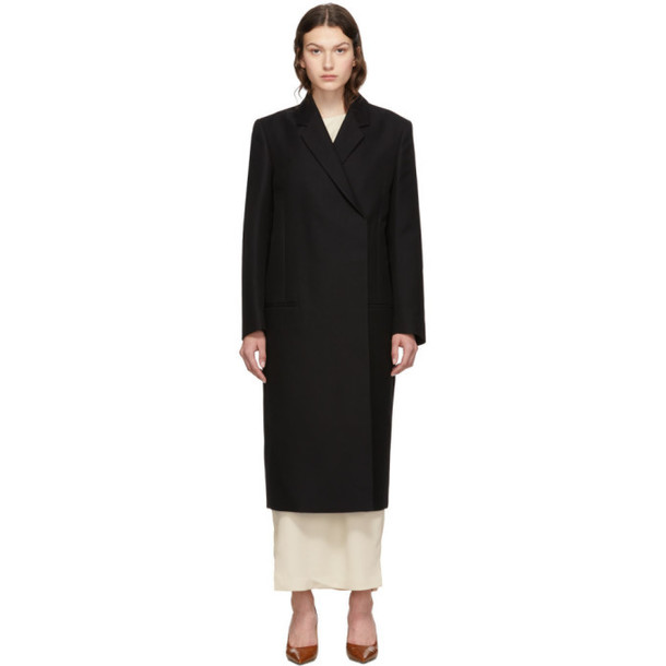 Toteme Black Volterra Coat