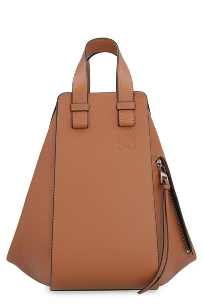 Loewe Hammock Leather Bag in brown
