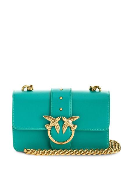 Pinko mini Love shoulder bag in blue