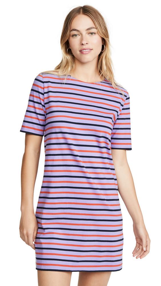 KULE The Tee Dress in navy / purple