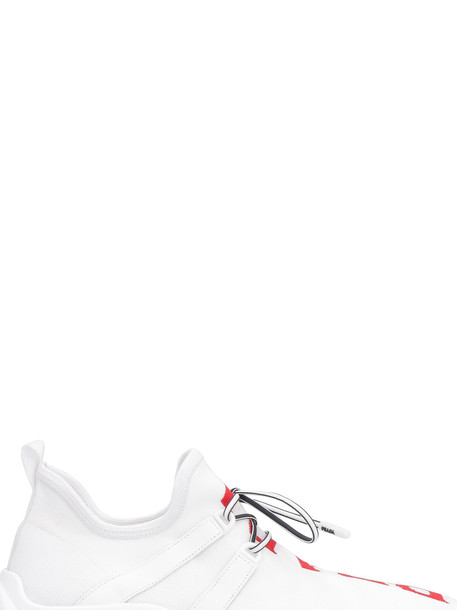 Prada Knitted Sneakers in white