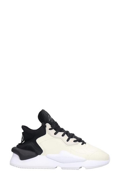 Y-3 Kaiwa Sneakers In White Leather