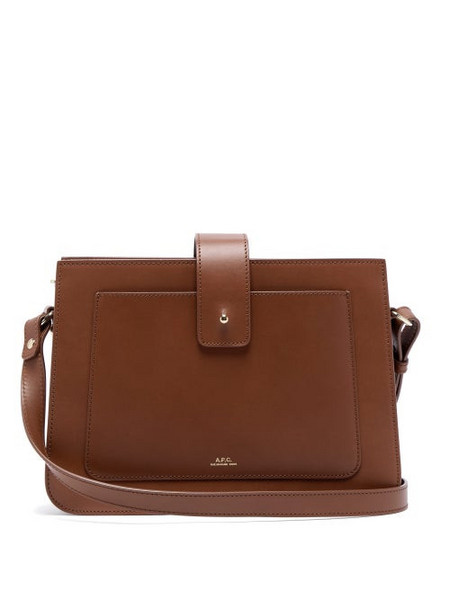 A.P.C. A.p.c. - Albane Smooth Leather Cross Body Bag - Womens - Tan