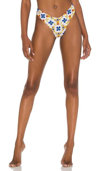 WeWoreWhat Delilah Bikini Bottom in Ivory in multi