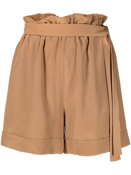 Federica Tosi high waisted belted shorts in neutrals