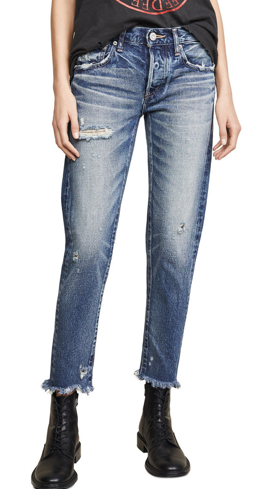 MOUSSY VINTAGE Kelley Tapered Jeans in blue