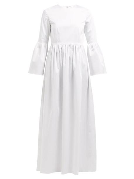 The Row - Sora Bell Sleeve Cotton Blend Maxi Dress - Womens - White