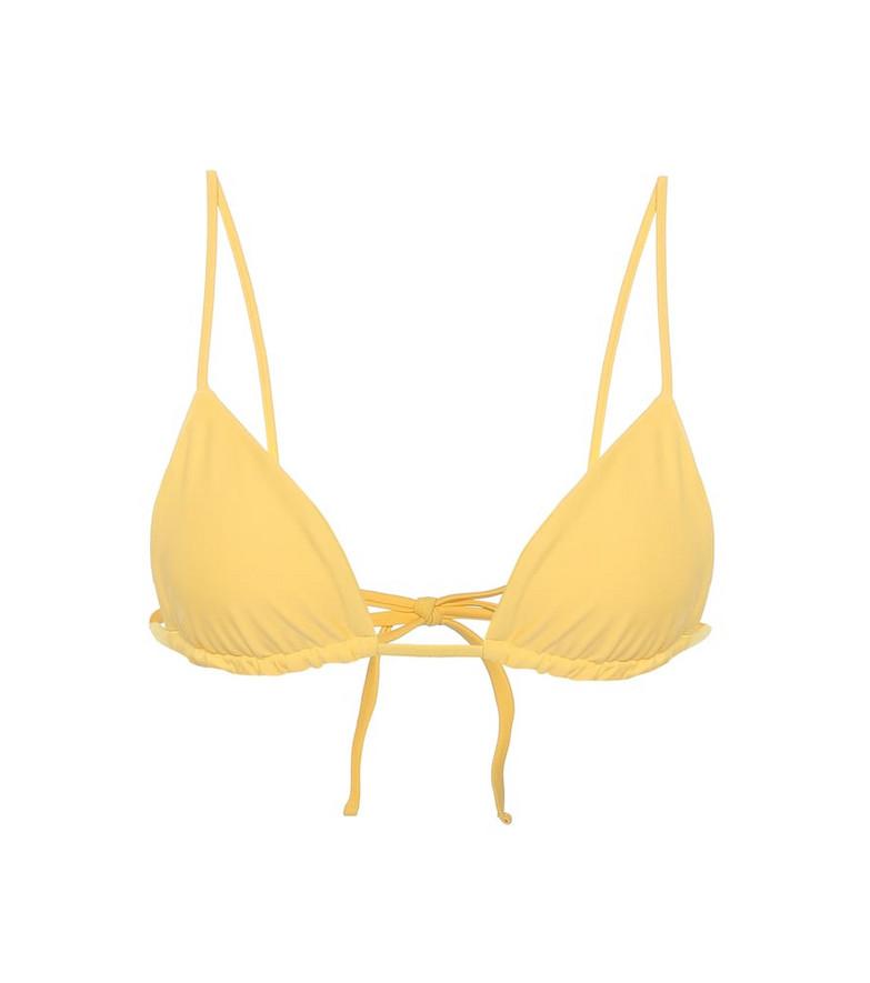 Jade Swim Via triangle bikini top in yellow