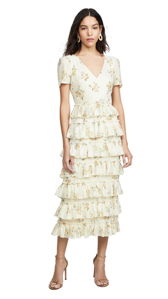 46d68d51cd WAYF Darlene Tiered Ruffle Maxi Dress in ivory - Wheretoget