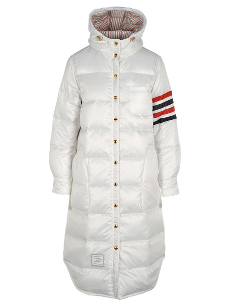 Thom Browne Long Down Jacket in white