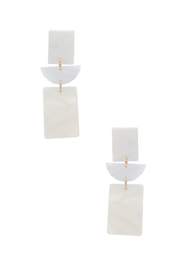 Paradigm Mykonos Earrings in white