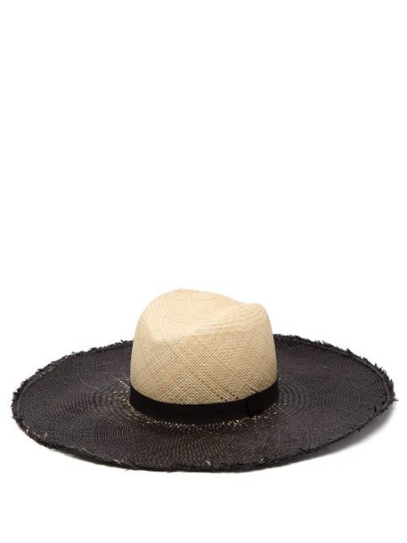 House Of Lafayette - Almond Contrast Brim Straw Hat - Womens - Beige