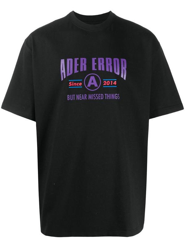 Ader Error logo-print T-shirt in black