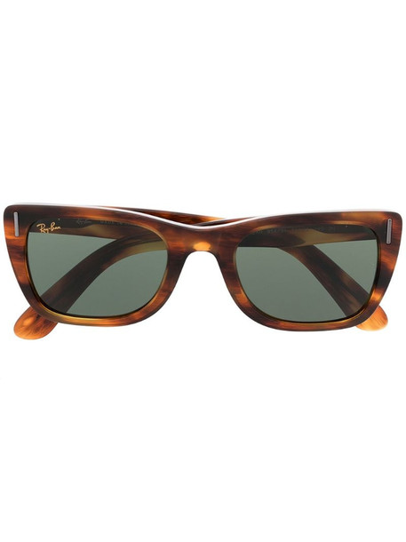 Ray-Ban Caribbean rectangle sunglasses in brown