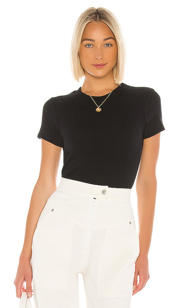 Enza Costa Cashmere Perfect Tee in Black