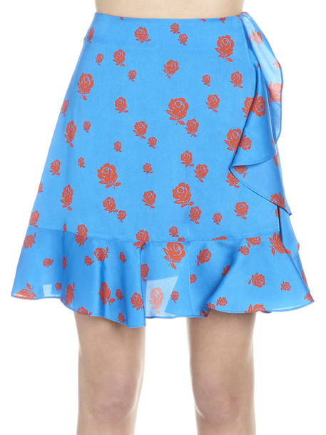 Kenzo 'roses' Skirt in rose / blue