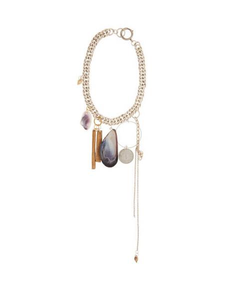 Marine Serre - Shamanic Charm Necklace - Womens - Silver