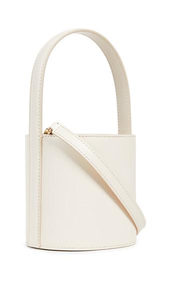 STAUD Mini Bissett Bag in cream