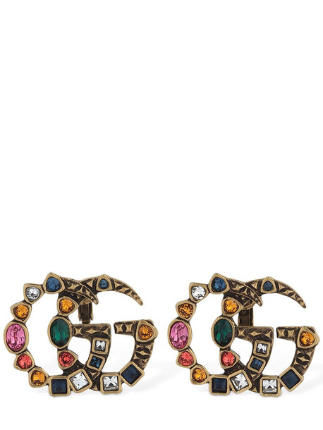 GUCCI Multi-colored Crystal Clip-on Earrings