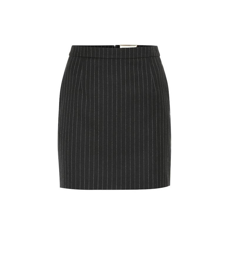 Saint Laurent Pin-striped wool skirt in black