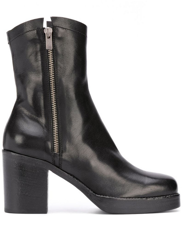 Officine Creative side zip boots in black