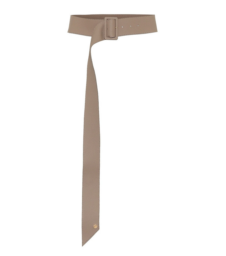 Agnona Leather belt in beige