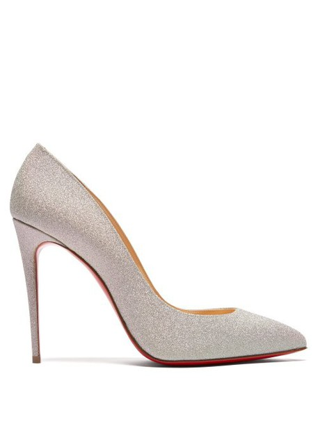 Christian Louboutin - Pigalle Follies 100 Glitter Embellished Pumps - Womens - Silver
