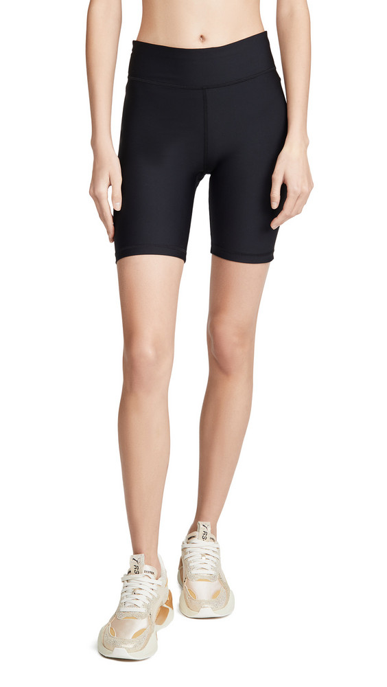 The Upside Matte Spin Shorts in black