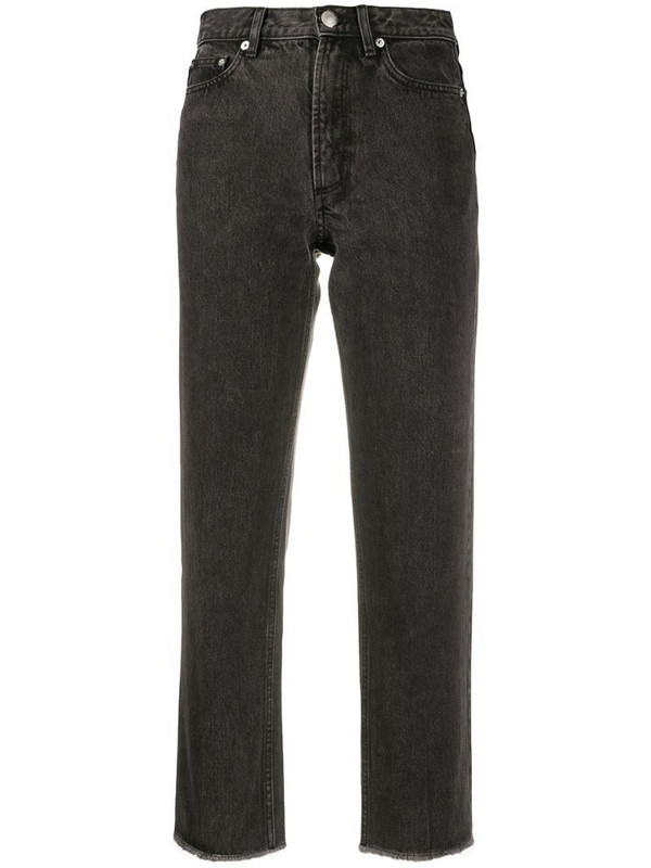 A.P.C. high-rise cropped jeans in black