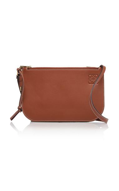 Loewe Gate Leather Shoulder Bag in brown