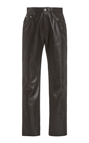 Nanushka Vinni Faux Leather Pants in black