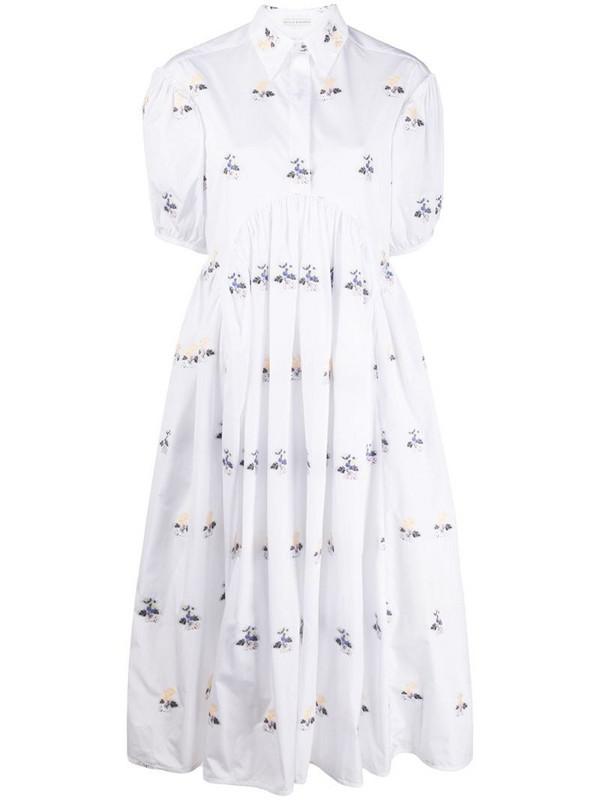 Cecilie Bahnsen Mikko floral midi dress in white
