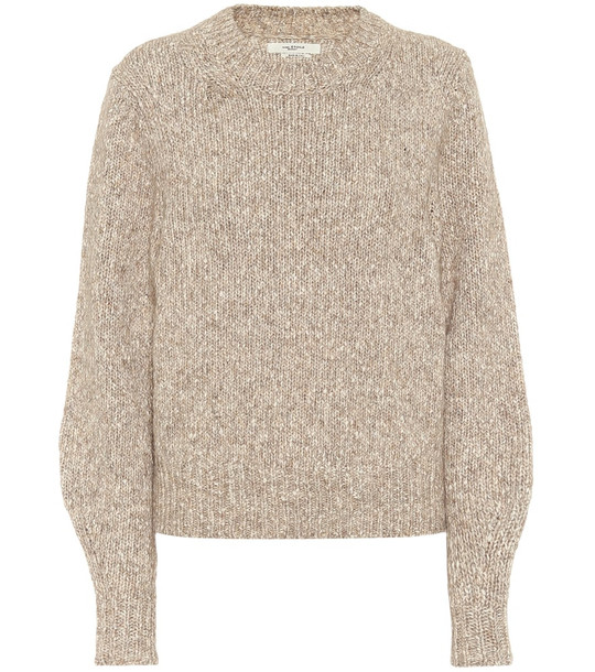 Isabel Marant, Étoile Ivah cotton-blend sweater in beige