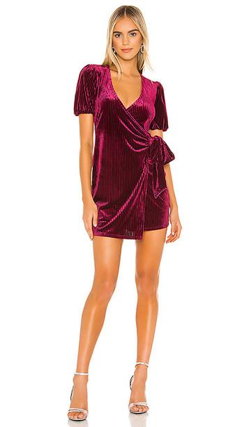 Privacy Please Laila Mini Dress in Wine in burgundy