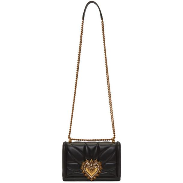Dolce and Gabbana Dolce & Gabbana Black Medium Quilted Devotion Bag