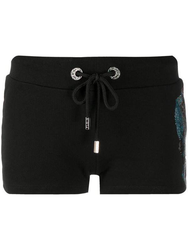 Philipp Plein Rainbow Skull shorts in black