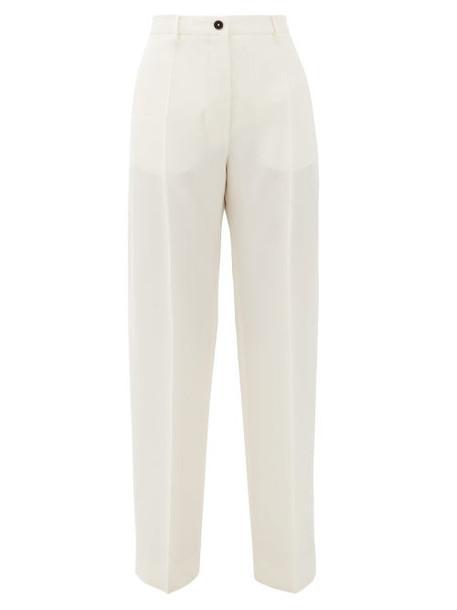 Jil Sander - Mattia High-rise Gauze Trousers - Womens - White