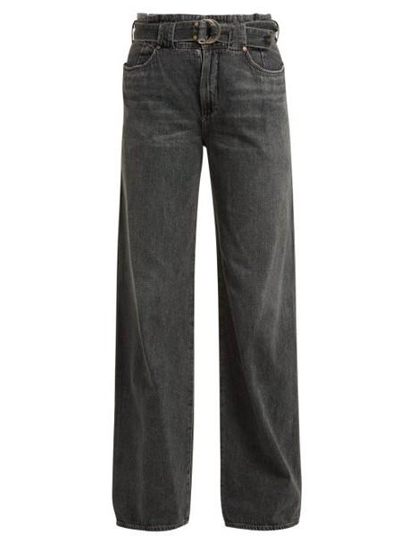 Jean Atelier - Cinch Paperbag Waist Jeans - Womens - Grey