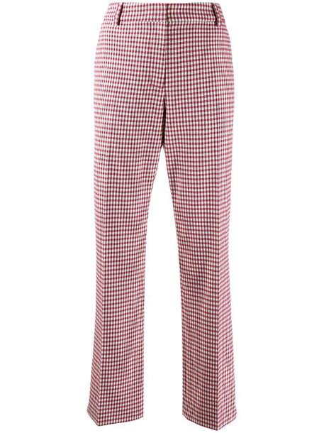 Derek Lam 10 Crosby Galen Straight Gingham Twill Trouser in pink